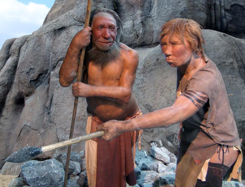 Rekonstrukce vzhledu neandrtálského muže a ženy