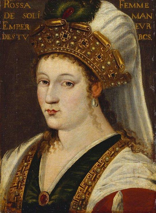 Portrét Roxelany ze sbírce britské královské rodiny.