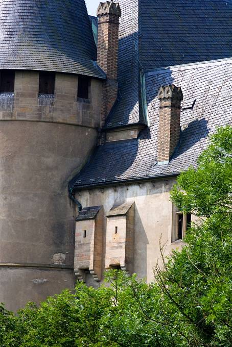 Záchodky hradu Karlštejn