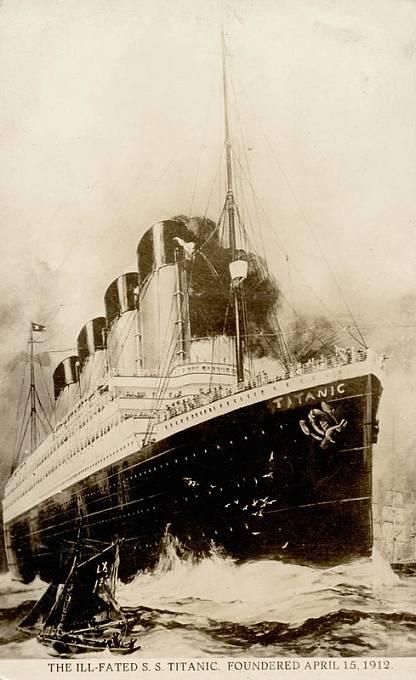 14. dubna 1912 ve 23:40 se parník srazil s ledovcem