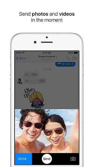 Náhled aplikace Messenger od Facebooku