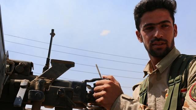 Pešmergové bojují proti Islámskému státu. Ilustrační foto.