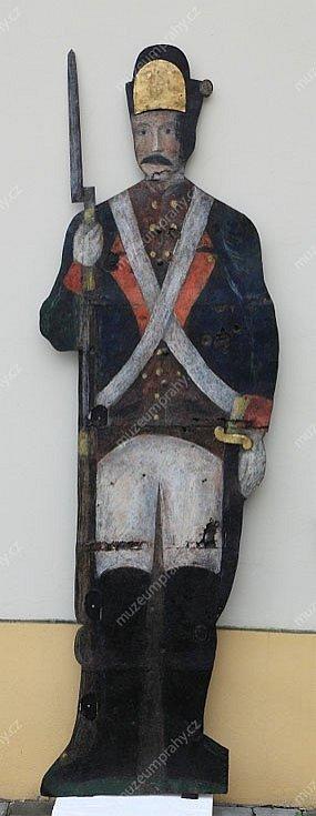 Plechová maketa vojáka ze Šilbochu