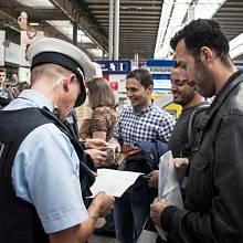 Uprchlíci na nádraží v Mnichově. Srpen 2015.