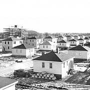 Budování města Batawa v Kanadě, které Tomáš Baťa ml. po roce 1939 koncipoval jako pokračování československého Zlína.
