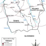 Přehledná mapa Těšínska