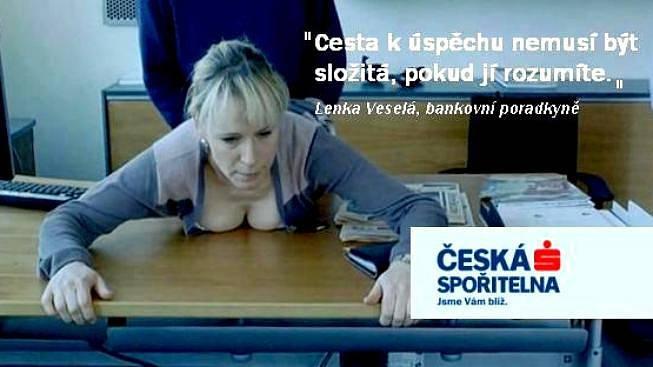 Původní parodie kampaně České spořitelny z roku 2012.