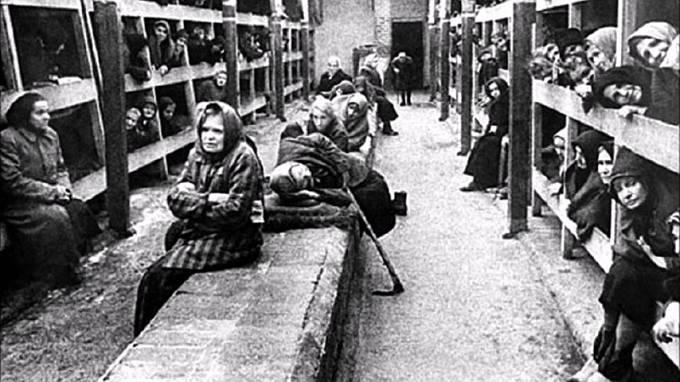 Vězněné ženy v koncentračním táboře