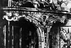 Černobílá fotografie původní jantarové komnaty
