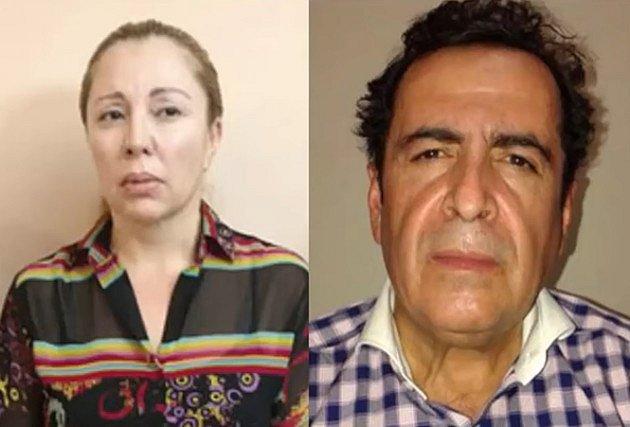 Clara Elena Laborin a její manžel Héctor Beltrán Leyva