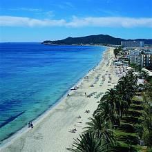 Playa d'en Bossa, Ibiza, Španělsko