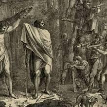 Přepadení Jaromíra Vršovci (obraz Antonína Jana Gareise st. z roku 1824)