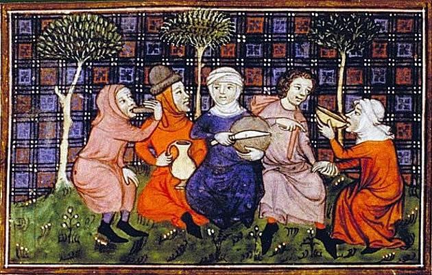 Prostý lid jedl hlavně obilné a luštěninové kaše, pekl se i chléb.