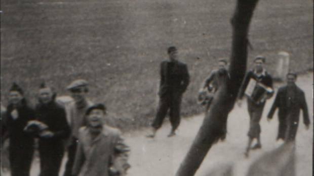 Odbojová skupina u hostince U rozvědčíka na Křivoklátsku 1940, Jiří Richter zcela vpravo