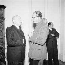 Generál Andrej A. Vlasov a protektorátní ministr osvěty Emanuel Moravec