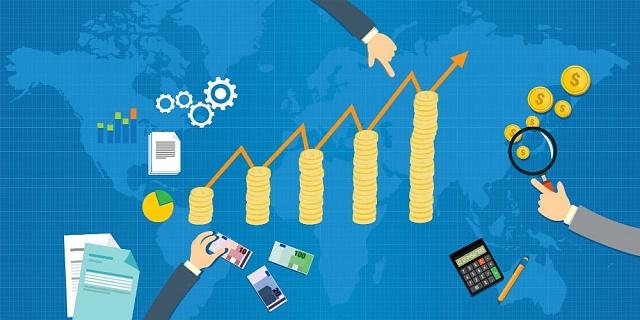 Ilustrační foto - ekonomický růst, graf, peníze, kalkulačka