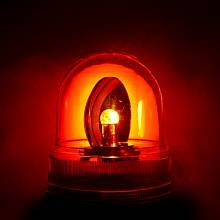 Ilustrační foto: Alarm, majáček bliká červeně kvůli hrozícímu nebezpečí