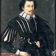 Albrecht z Valdštejna na portrétu kolem roku 1620.