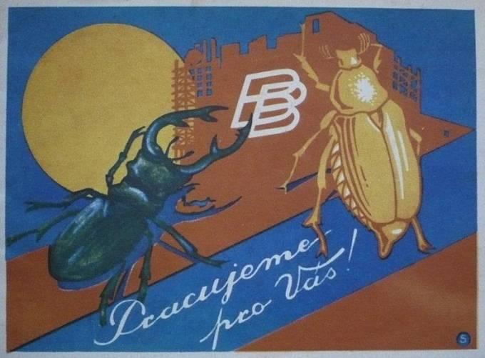Reklama firmy Brouk a Babka z roku 1930