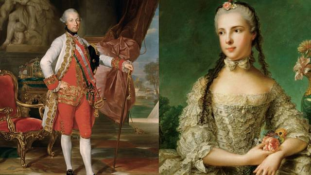 Isabela Parmská a Josef II.