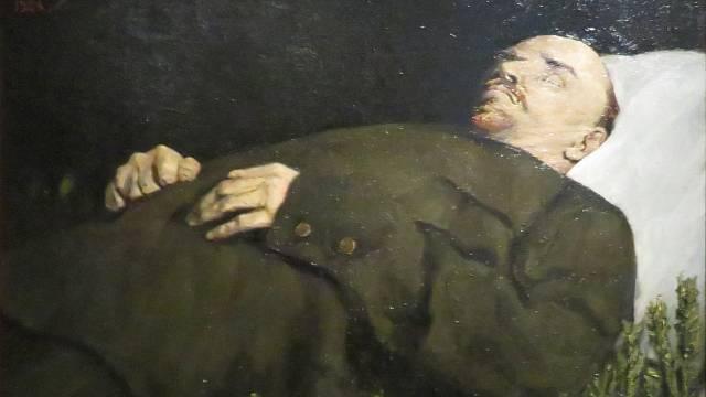 Vladimír Iljič Lenin na smrtelném loži