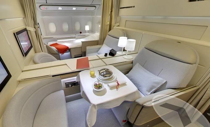 Air France nabízí soukromé salonky La Première. Jednosměrná letenka vás vyjde klidně na deset tisíc dolarů.