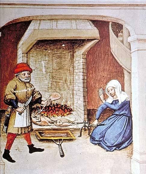Strava bohatších byla založena na mase lovené zvěře, prostý lid si maso dopřával jen o svátcích.
