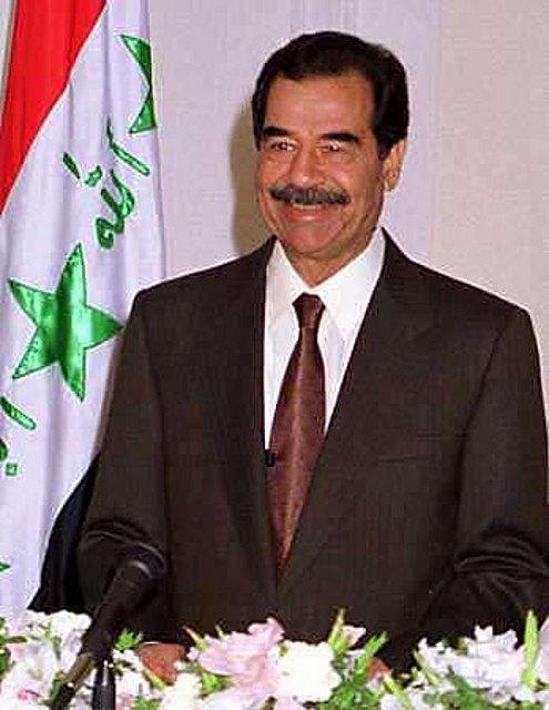 Saddám Husajn v roce 2001