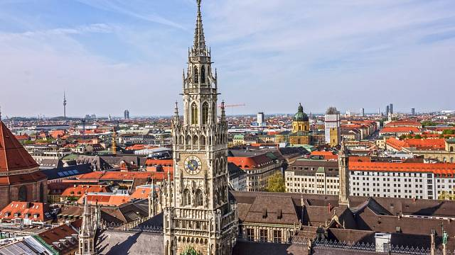Mnichov,radnice Marienplatz