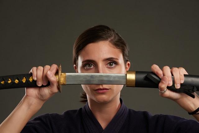 Katana je tradičním mečem japonských samurajů.