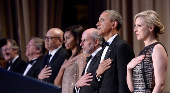Letošní večeře byla Obamova osmá - poslední.