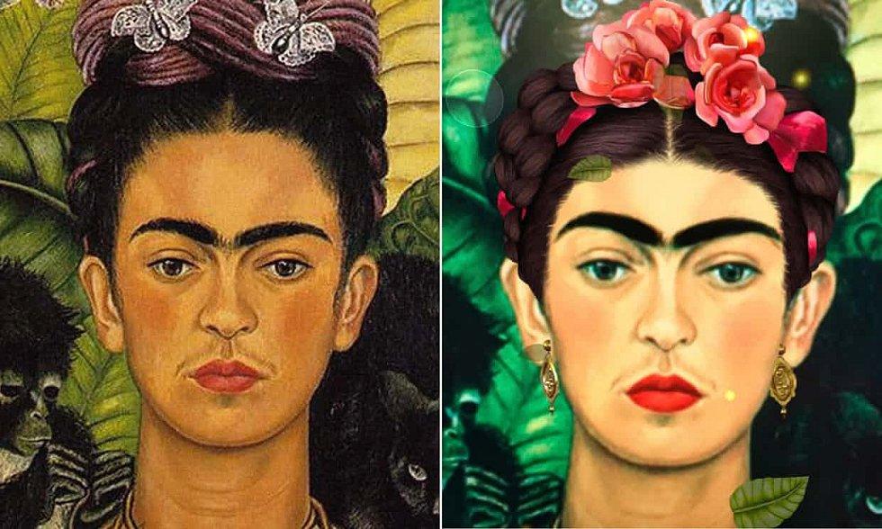 Upravený portrét Fridy Kahlové, použitý pro loňský Mezinárodní den žen, čelil kritice kvůli nadměrnému zesvětlení pleti a symetrickému zarovnání tváře