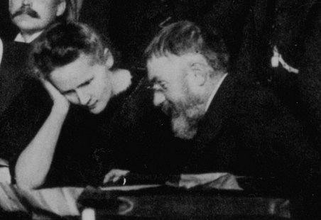 Marie Curie-Skłodowská a Henri Poincaré vroce 1911
