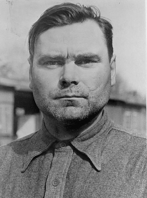 Josef Kramer, velitel tábora Bergen-Belsen.