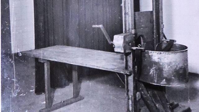 Gilotina v pankrácké věznici