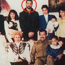 Rodina Saddáma Husseina s Udayem ve středu