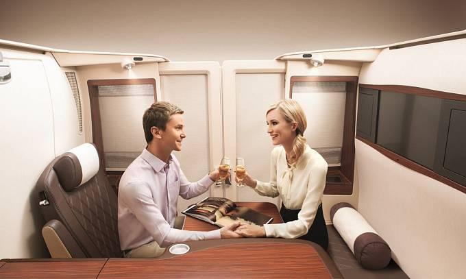 U Singapore Airlines myslí i na společné cestování dvojic.