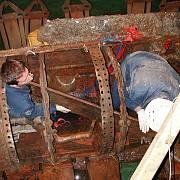 Originál ponorky, vyzdvižený v srpnu 2000 ze dna Atlantského oceánu
