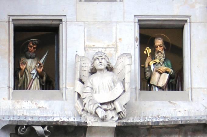 Dopis byl objeven v dutině sochy svatého Tomáše.