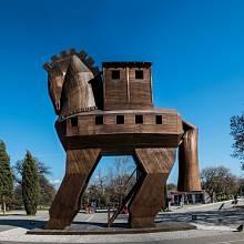 V Turecku je Trojský kůň oblíbeným doplňkem veřejných prostranství.