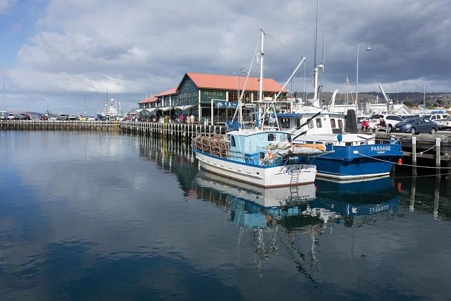 Přístav ve městě Hobart