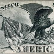 Detail části bankovky 10 tisíc USD z roku 1878