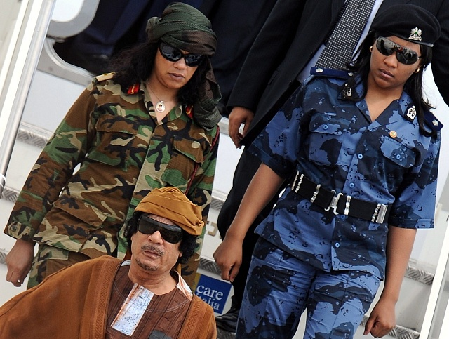 Muammar Kaddáfí sosobní gardou