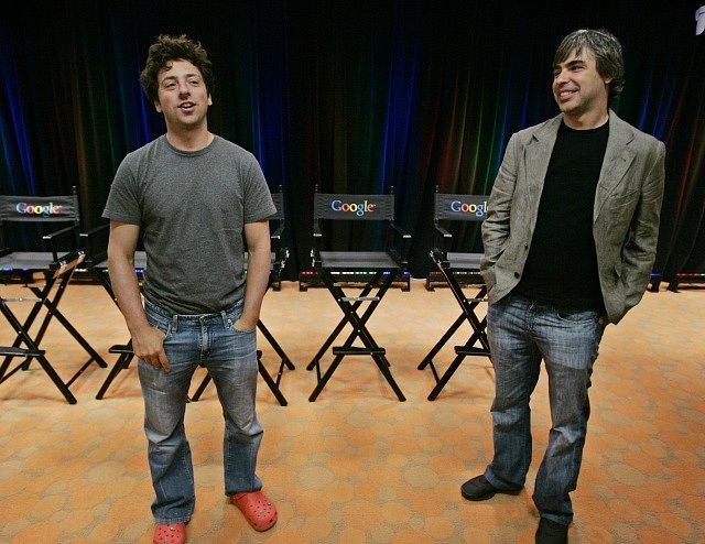 Larry Page a Sergey Brin v roce 2008