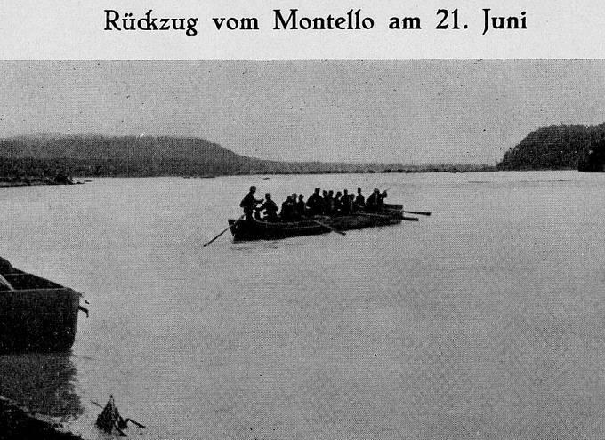 Kdo měl štěstí a přežil týdenní krvavé boje na Montello, možná se mu podařilo přeplavit se zpět do výchozích pozic.