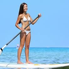 Také na Havaji uvidíte paddleboardistky.
