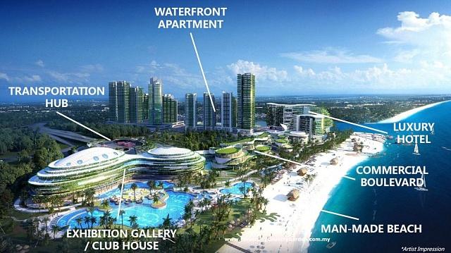 Vizualizace projektu Forest City pro 700 tisíc lidí.