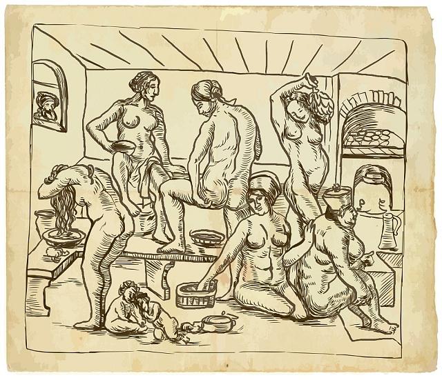 Ve středověku se lidé před sebou nestyděli.