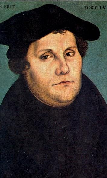 Martin Luther, německý zakladatel protestantismu. KHusovi se otevřeně hlásil jako ksvému předchůdci a ve všem sním souhlasil. Když byly roku 1435vČechách završeny husitské spory uzákoněním basilejských kompaktát, byl vzemi legalizován utrakvismus a
