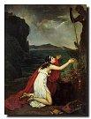 Básnířka Sapfó z Mytiléné se modlí k Afroditě. Její dílo bylo prodchnuté erotikou